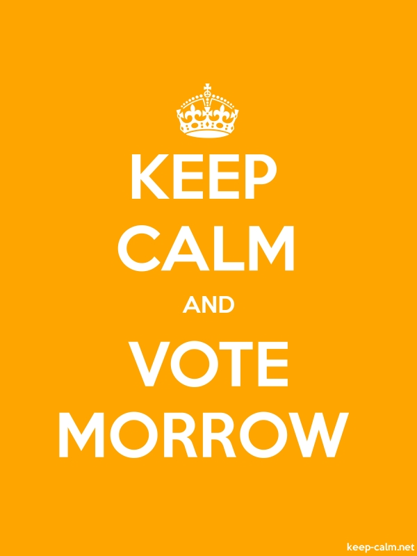 KEEP CALM AND VOTE MORROW - white/orange - Default (600x800)