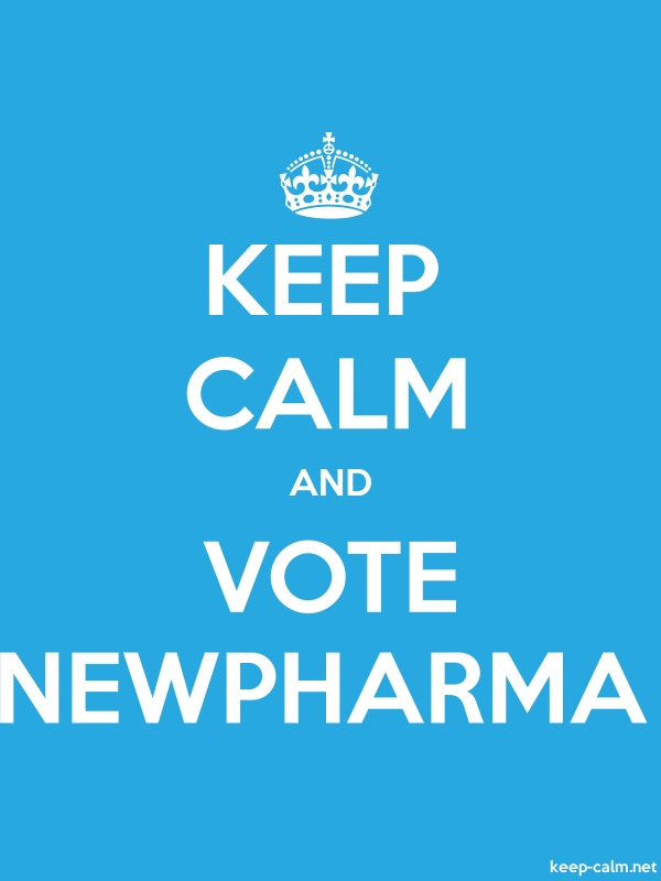 KEEP CALM AND VOTE NEWPHARMA - white/blue - Default (600x800)
