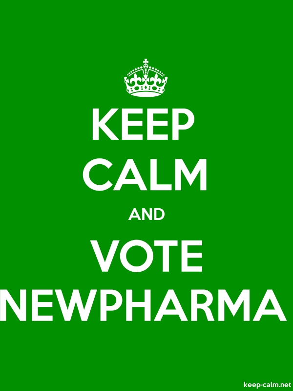 KEEP CALM AND VOTE NEWPHARMA - white/green - Default (600x800)
