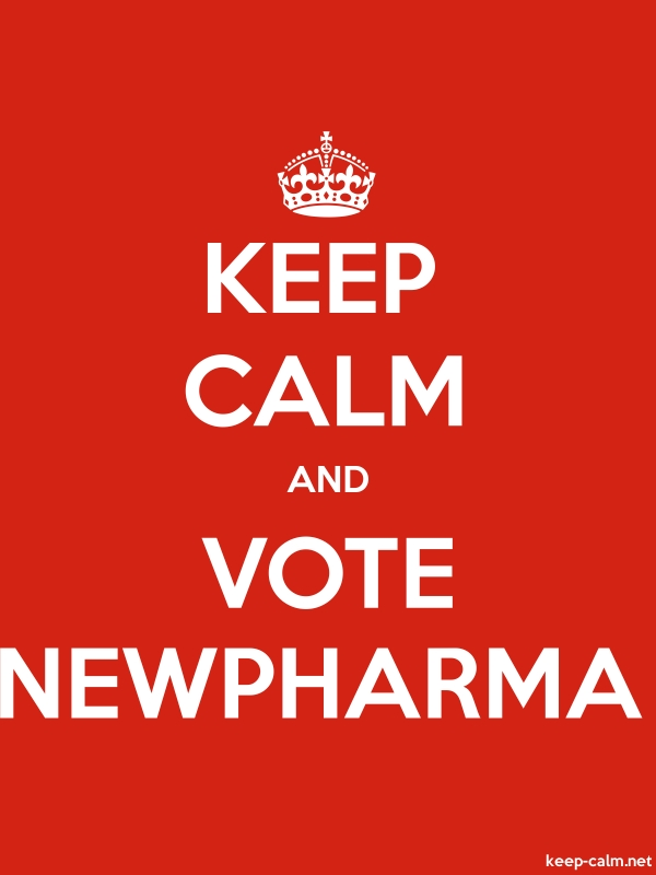 KEEP CALM AND VOTE NEWPHARMA - white/red - Default (600x800)