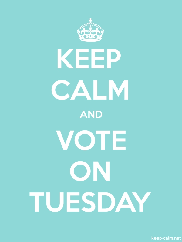 KEEP CALM AND VOTE ON TUESDAY - white/lightblue - Default (600x800)