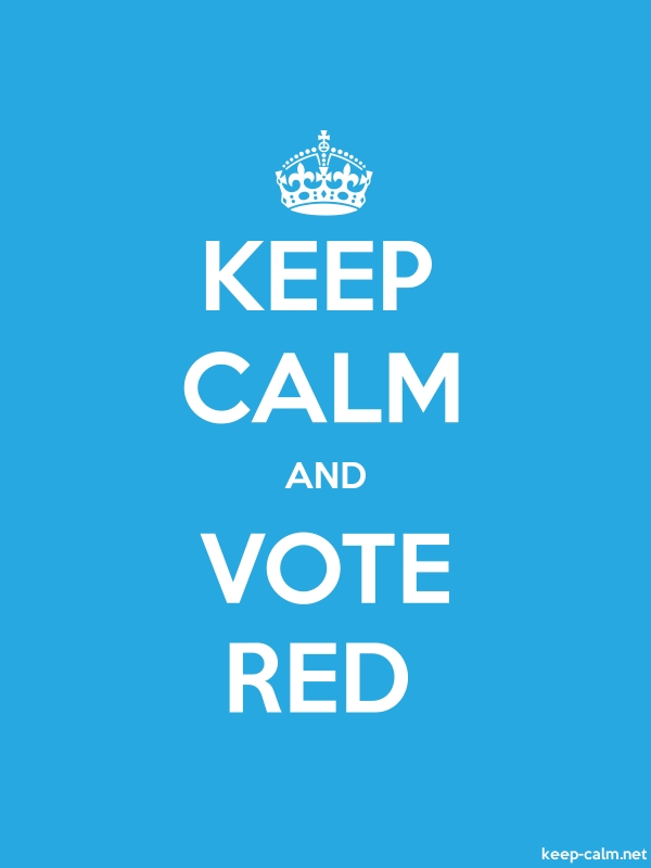 KEEP CALM AND VOTE RED - white/blue - Default (600x800)