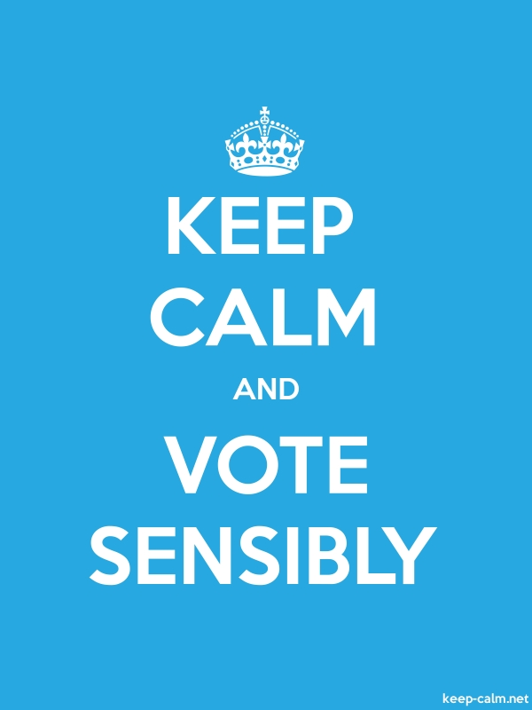 KEEP CALM AND VOTE SENSIBLY - white/blue - Default (600x800)