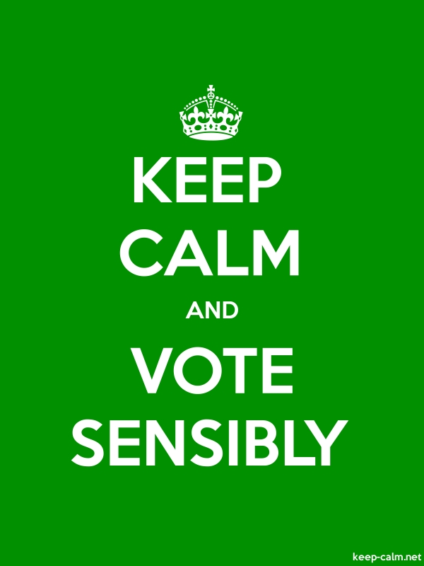 KEEP CALM AND VOTE SENSIBLY - white/green - Default (600x800)