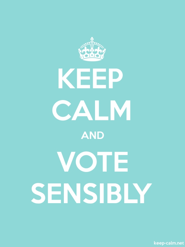 KEEP CALM AND VOTE SENSIBLY - white/lightblue - Default (600x800)