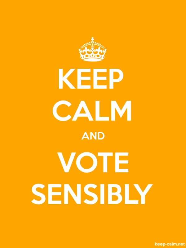 KEEP CALM AND VOTE SENSIBLY - white/orange - Default (600x800)