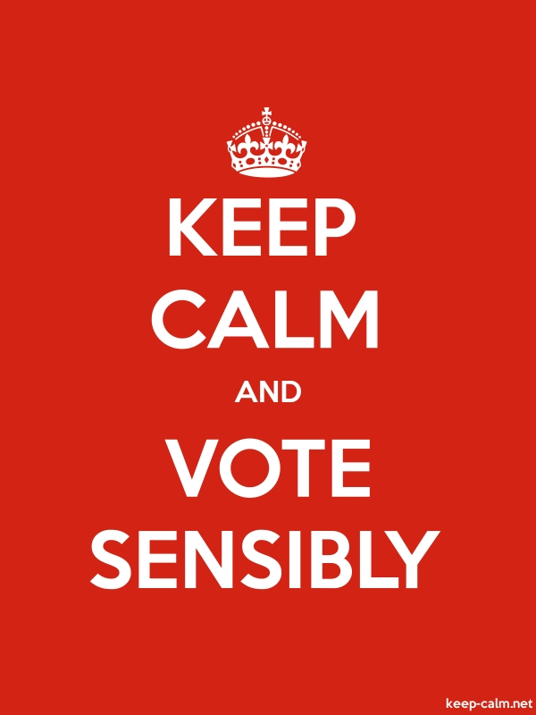 KEEP CALM AND VOTE SENSIBLY - white/red - Default (600x800)