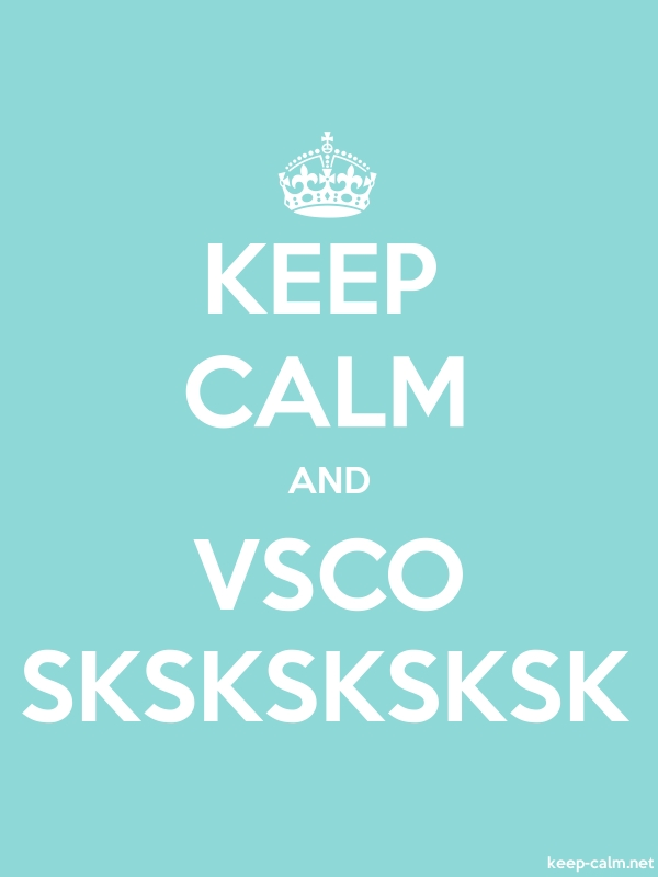 KEEP CALM AND VSCO SKSKSKSKSK - white/lightblue - Default (600x800)