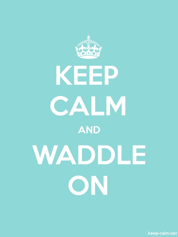 KEEP CALM AND WADDLE ON - white/lightblue - Default (600x800)