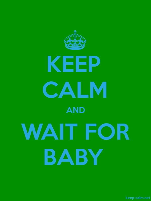 KEEP CALM AND WAIT FOR BABY - blue/green - Default (600x800)
