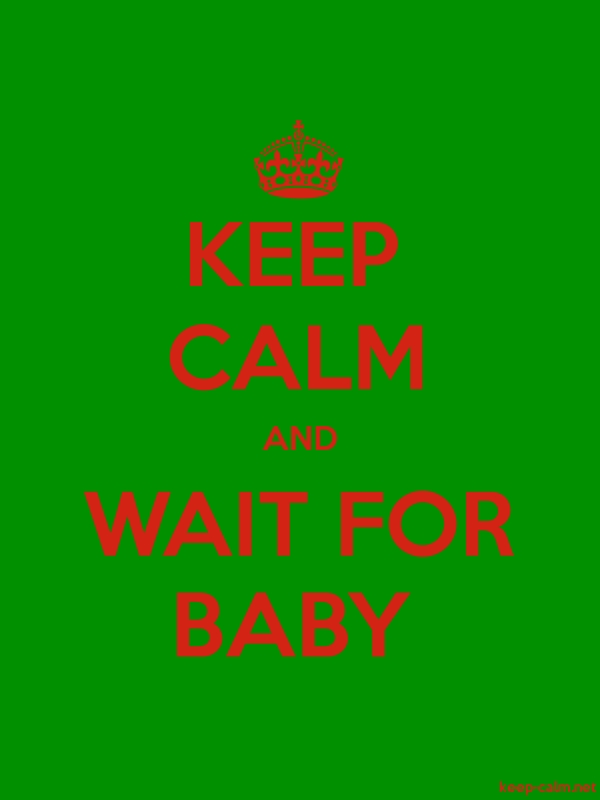 KEEP CALM AND WAIT FOR BABY - red/green - Default (600x800)