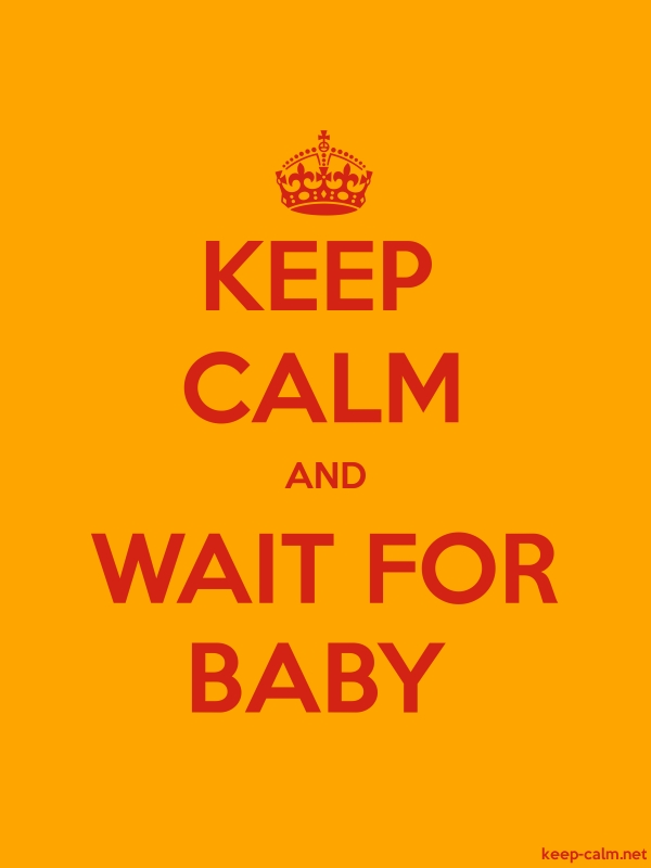 KEEP CALM AND WAIT FOR BABY - red/orange - Default (600x800)