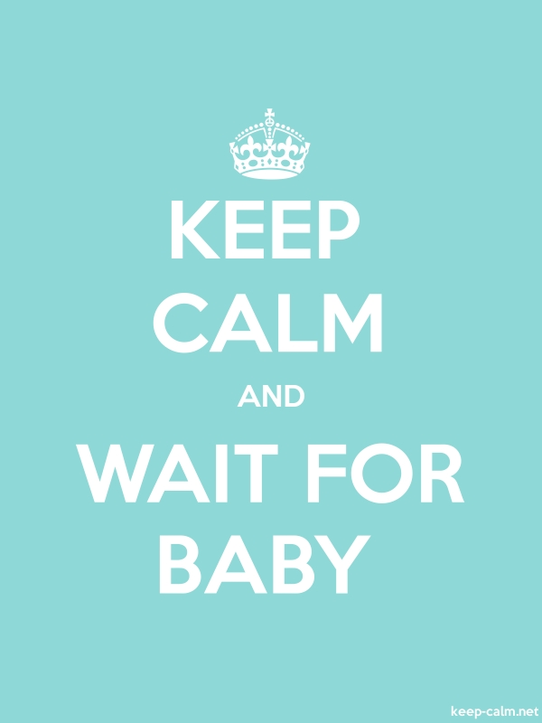 KEEP CALM AND WAIT FOR BABY - white/lightblue - Default (600x800)