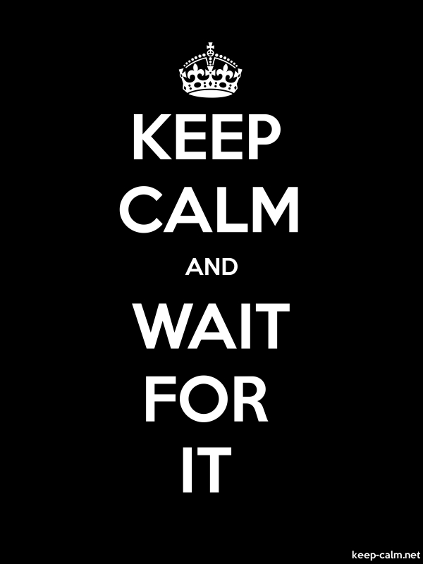 KEEP CALM AND WAIT FOR IT - white/black - Default (600x800)