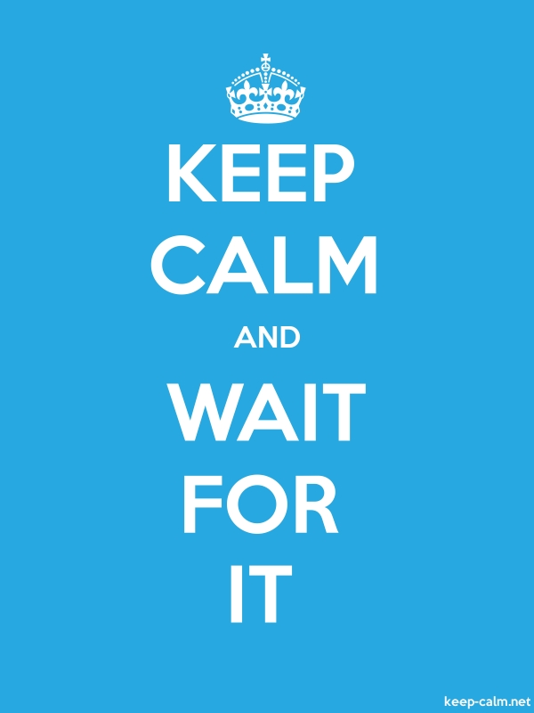 KEEP CALM AND WAIT FOR IT - white/blue - Default (600x800)