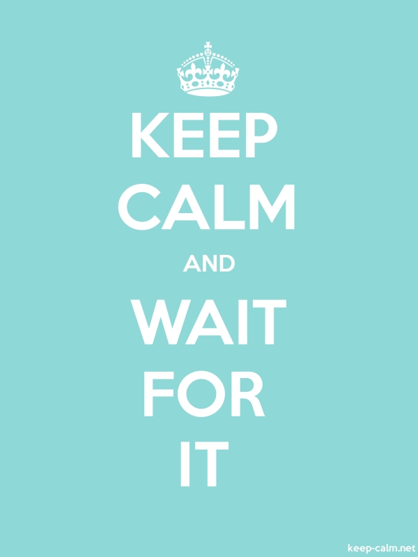 KEEP CALM AND WAIT FOR IT - white/lightblue - Default (600x800)