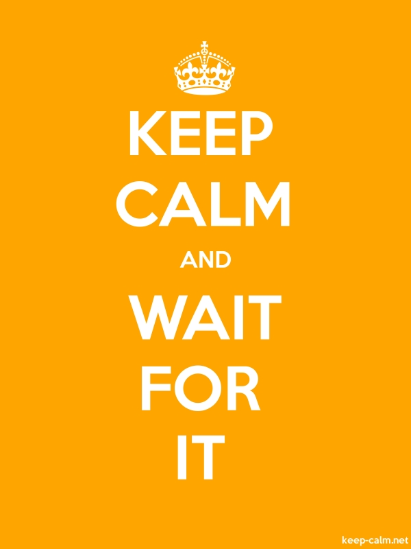 KEEP CALM AND WAIT FOR IT - white/orange - Default (600x800)