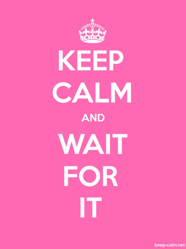 KEEP CALM AND WAIT FOR IT - white/pink - Default (600x800)