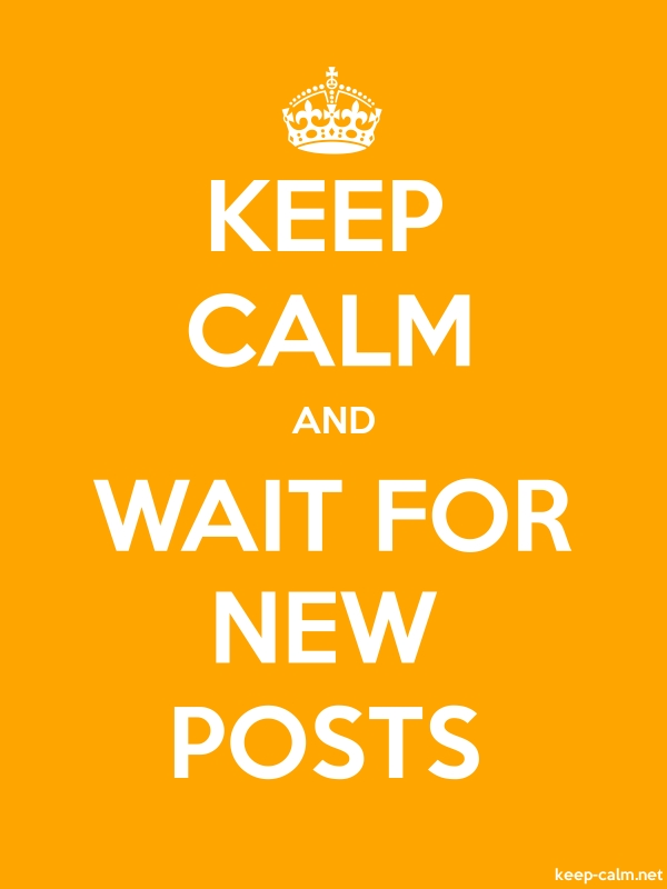 KEEP CALM AND WAIT FOR NEW POSTS - white/orange - Default (600x800)