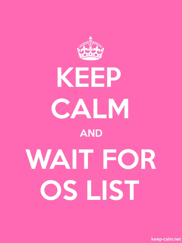 KEEP CALM AND WAIT FOR OS LIST - white/pink - Default (600x800)