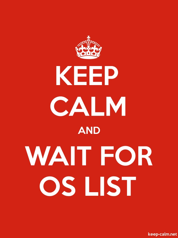 KEEP CALM AND WAIT FOR OS LIST - white/red - Default (600x800)