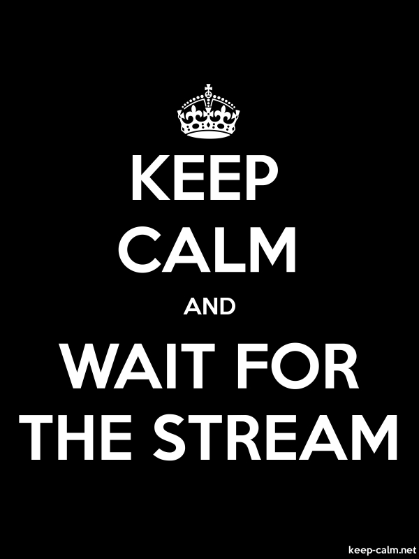 KEEP CALM AND WAIT FOR THE STREAM - white/black - Default (600x800)