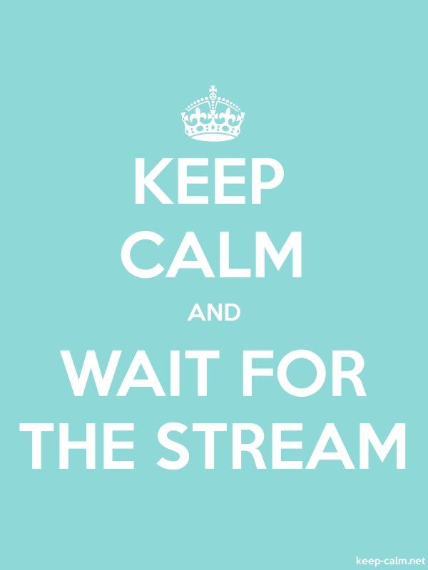 KEEP CALM AND WAIT FOR THE STREAM - white/lightblue - Default (600x800)