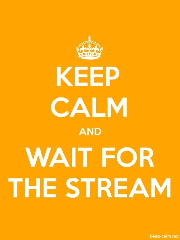 KEEP CALM AND WAIT FOR THE STREAM - white/orange - Default (600x800)