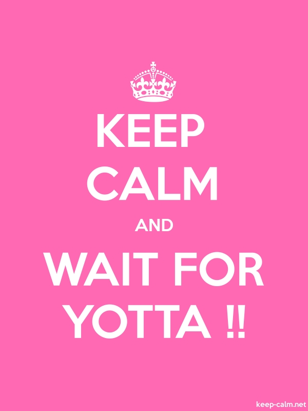 KEEP CALM AND WAIT FOR YOTTA !! - white/pink - Default (600x800)
