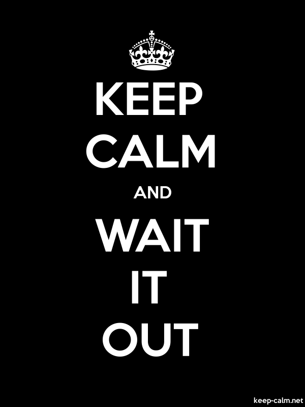 KEEP CALM AND WAIT IT OUT - white/black - Default (600x800)