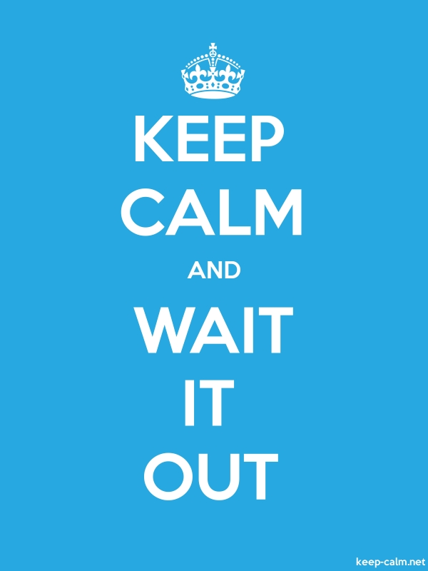 KEEP CALM AND WAIT IT OUT - white/blue - Default (600x800)