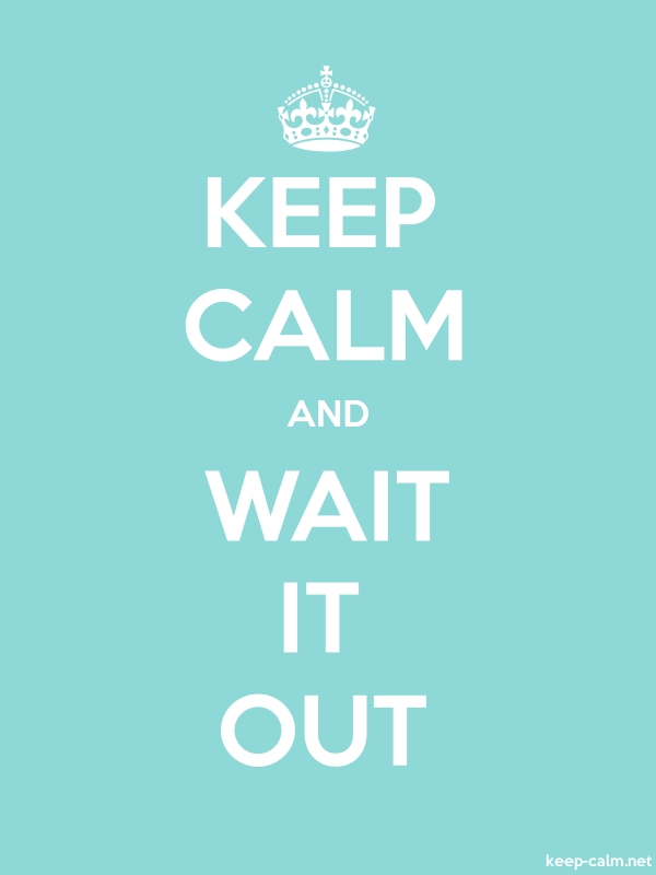 KEEP CALM AND WAIT IT OUT - white/lightblue - Default (600x800)