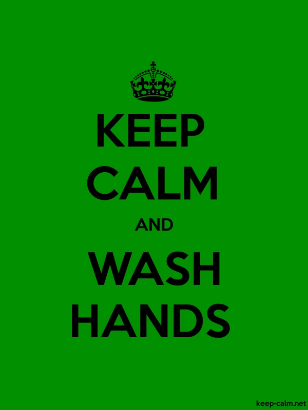 KEEP CALM AND WASH HANDS - black/green - Default (600x800)