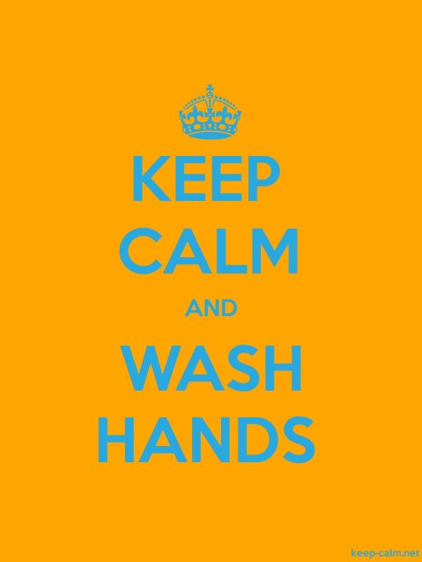 KEEP CALM AND WASH HANDS - blue/orange - Default (600x800)