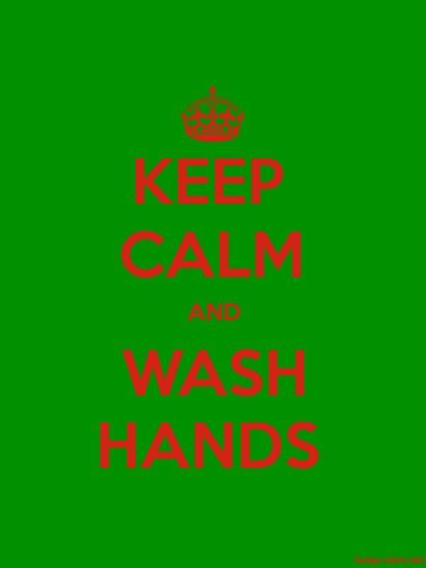 KEEP CALM AND WASH HANDS - red/green - Default (600x800)