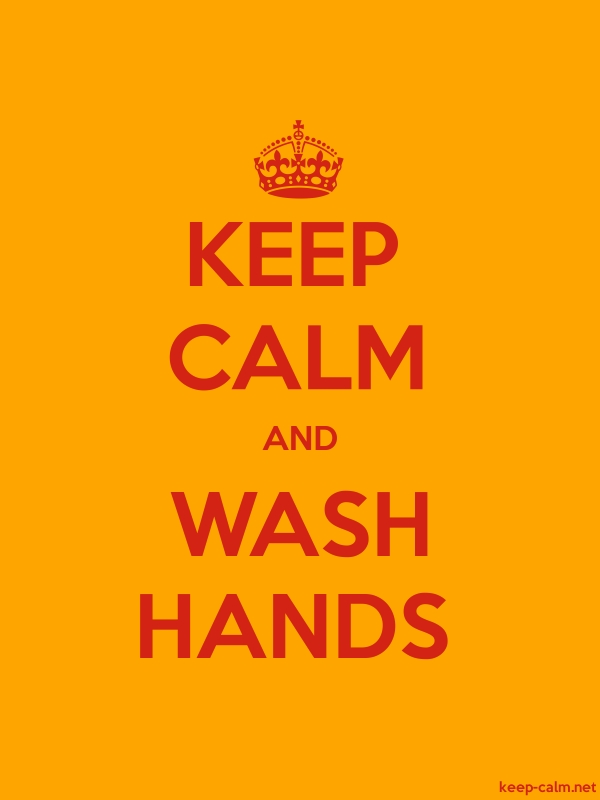 KEEP CALM AND WASH HANDS - red/orange - Default (600x800)