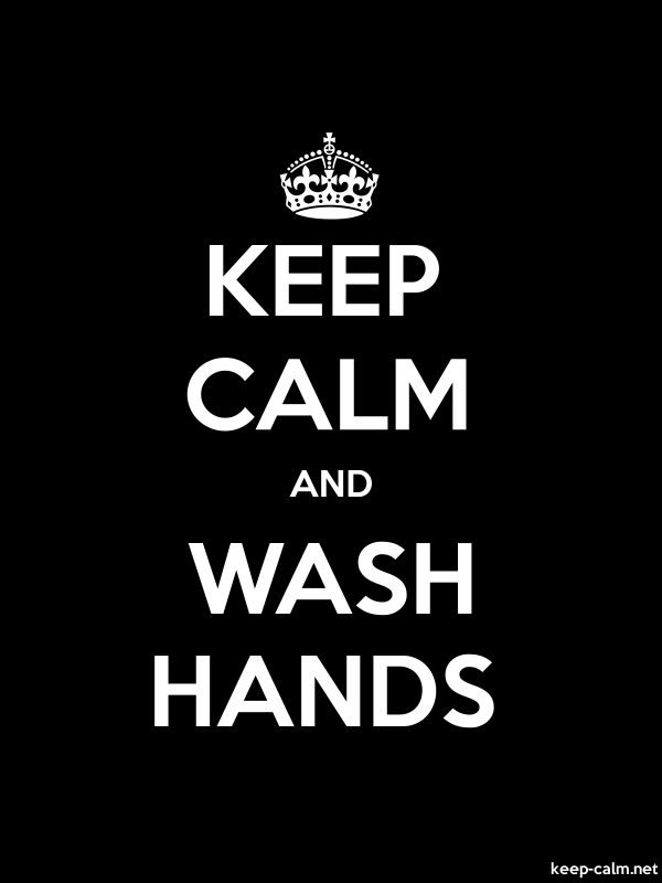 KEEP CALM AND WASH HANDS - white/black - Default (600x800)