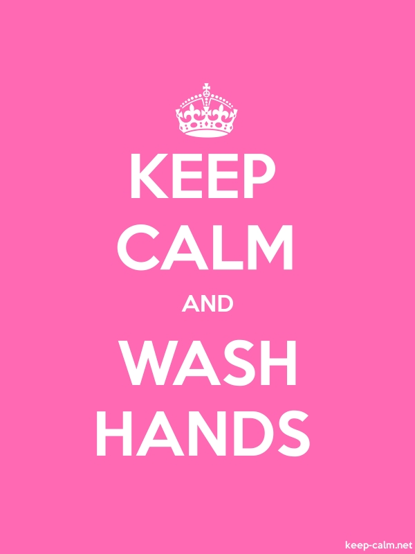 KEEP CALM AND WASH HANDS - white/pink - Default (600x800)