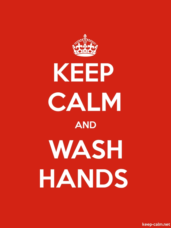 KEEP CALM AND WASH HANDS - white/red - Default (600x800)