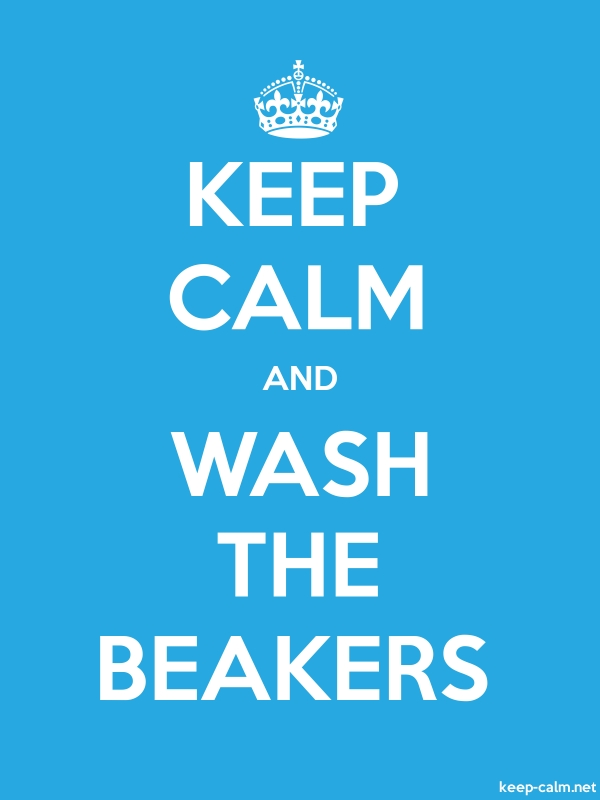 KEEP CALM AND WASH THE BEAKERS - white/blue - Default (600x800)