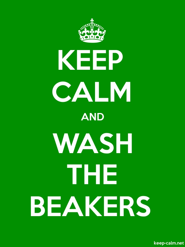 KEEP CALM AND WASH THE BEAKERS - white/green - Default (600x800)