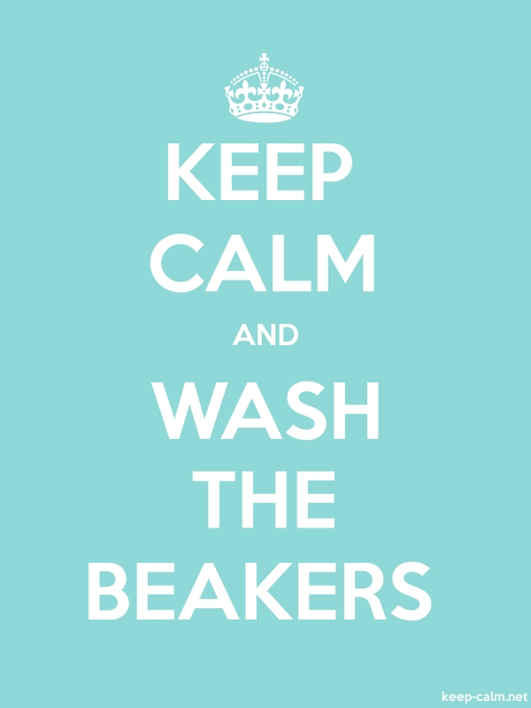 KEEP CALM AND WASH THE BEAKERS - white/lightblue - Default (600x800)