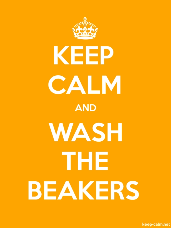 KEEP CALM AND WASH THE BEAKERS - white/orange - Default (600x800)