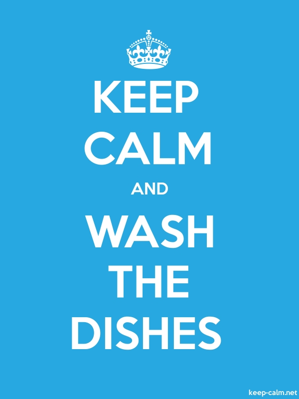 KEEP CALM AND WASH THE DISHES - white/blue - Default (600x800)