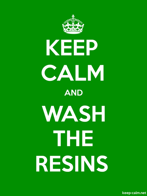 KEEP CALM AND WASH THE RESINS - white/green - Default (600x800)
