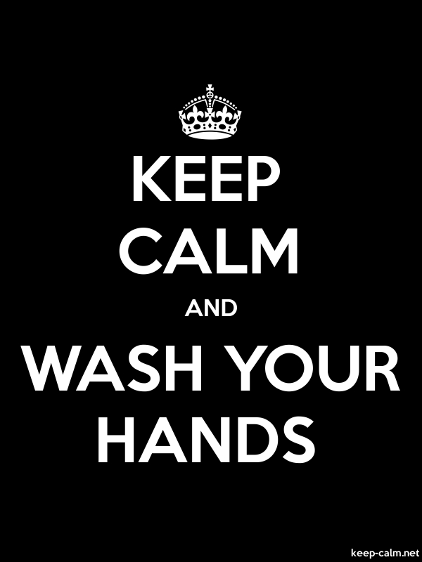 KEEP CALM AND WASH YOUR HANDS - white/black - Default (600x800)