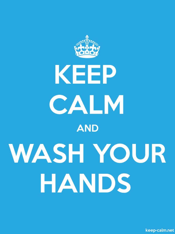 KEEP CALM AND WASH YOUR HANDS - white/blue - Default (600x800)