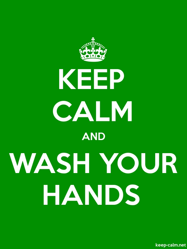 KEEP CALM AND WASH YOUR HANDS - white/green - Default (600x800)