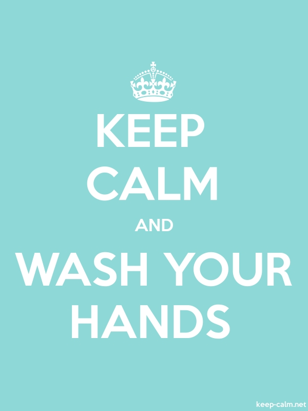 KEEP CALM AND WASH YOUR HANDS - white/lightblue - Default (600x800)