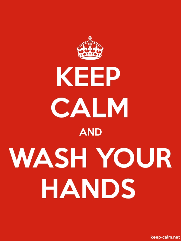 KEEP CALM AND WASH YOUR HANDS - white/red - Default (600x800)